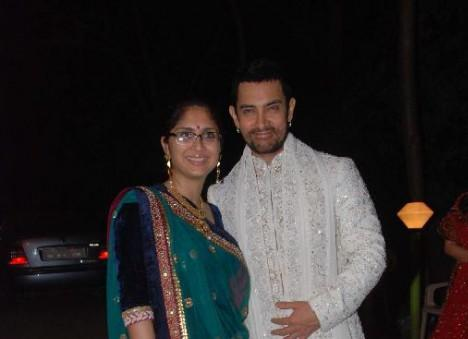 Aamir Khan and His Wife at Imran Khan Wedding Sangeet Ceremony