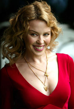 Kylie Minogue Beautiful Smile Pic In Red Dress
