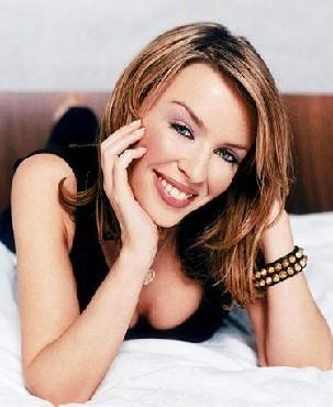 Kylie Minogue Sexy Smile Hot Boob Show Pic