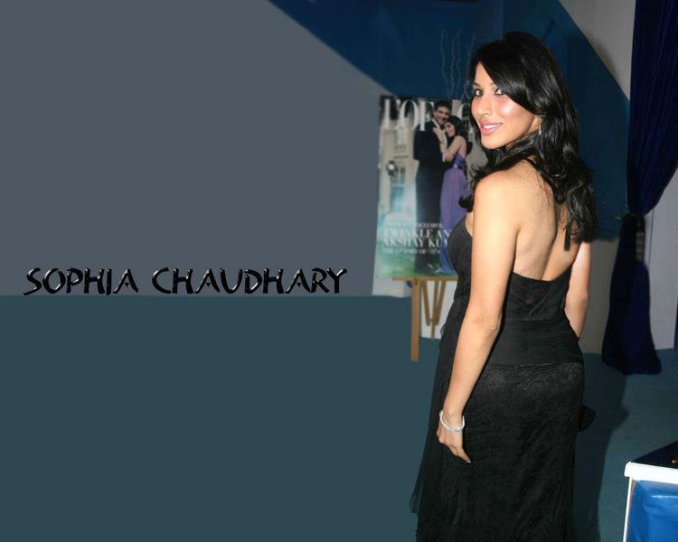 Sophia Chaudhary Hot Bare Black Wallpaper