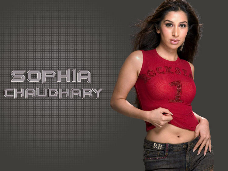 Sophia Chaudhary Sexy Red Tops Wallpaper