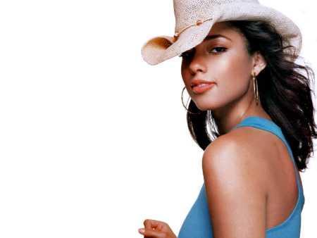 Alicia Keys Wearing Stylist Hat Cool Wallpaper