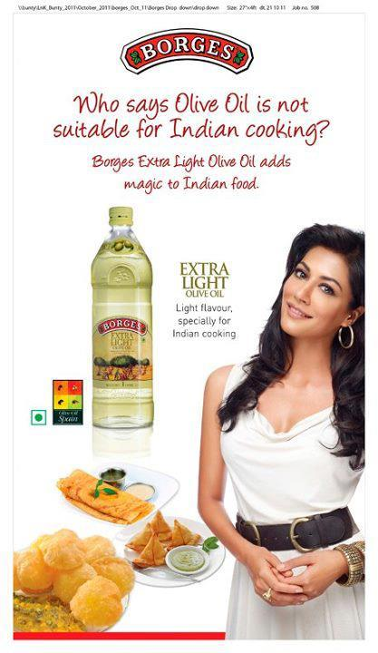 Chitrangada Singh New Print Ads For Borges Olive Oil