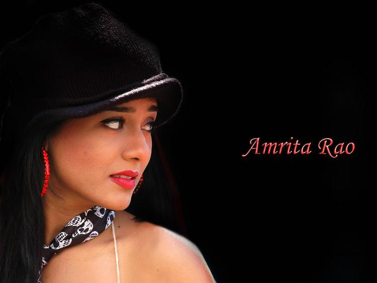 Amrita Rao Red Lips Pic