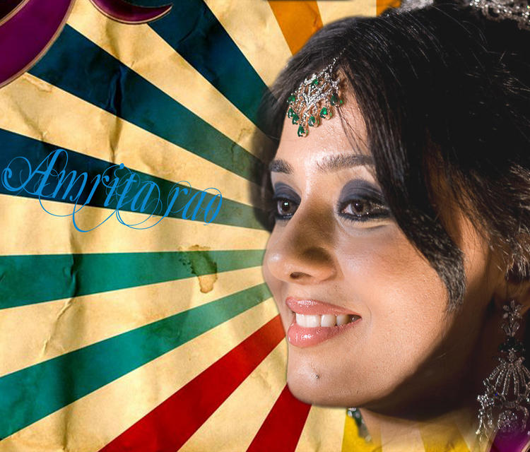 Amrita Rao Smiling Look Wallpaper