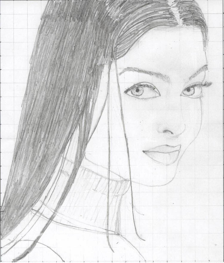 Aishwarya Rai Sketch Painting Photo