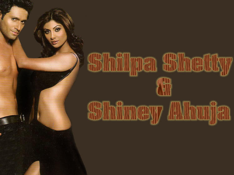 Shilpa Shetty With Shiney Ahuja Hot Wallpaper