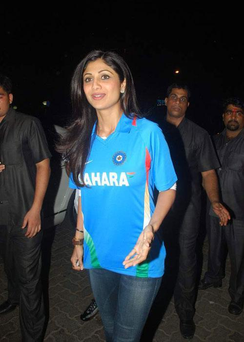 Shilpa Shetty World Cup Victory Bash Photo