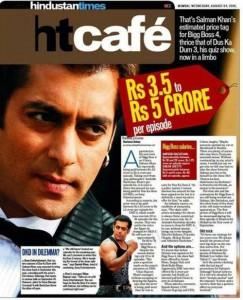 Salman Khan On The Magazine Cover