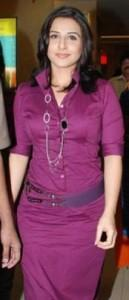 Vidya Balan Magenta Color Dress Still