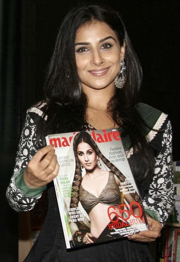Vidya Balan Marie Claire Magazine Launch Photo