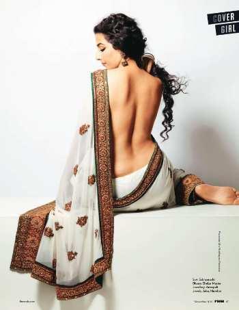 Vidya Balan Milky Back Bare Still