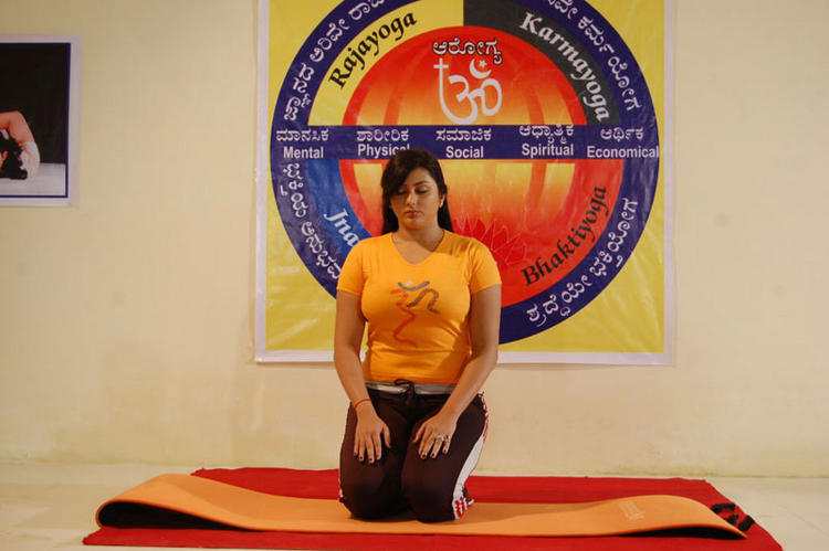 Namitha Latest Hot Yoga Still
