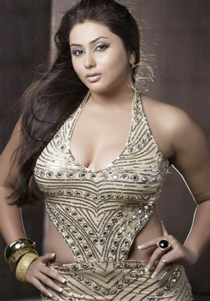 Namitha Romancing Hot Photo Shoot