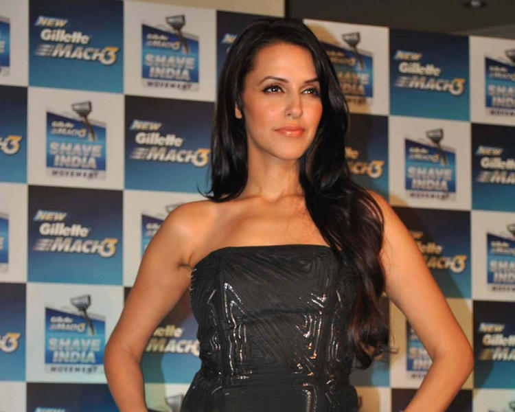 Neha Dhupia Strapless Dress Hot Pic