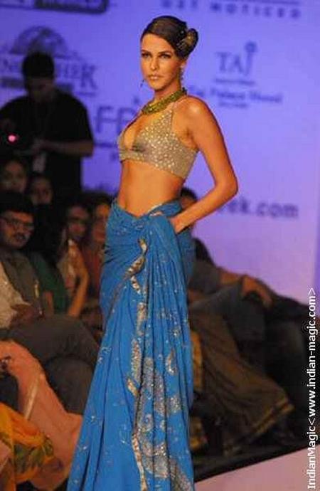 Neha Dhupia Walk In Sexy Saree