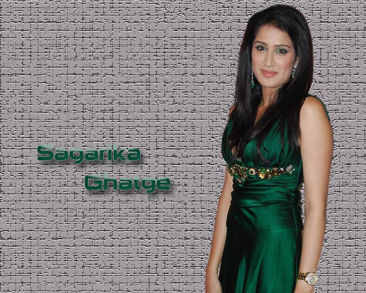 Sagarika Ghatge Green Dress Hot Wallpaper