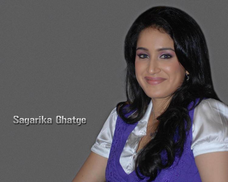 Sagarika Ghatge Sweet Smile Face Looking Wallpaper