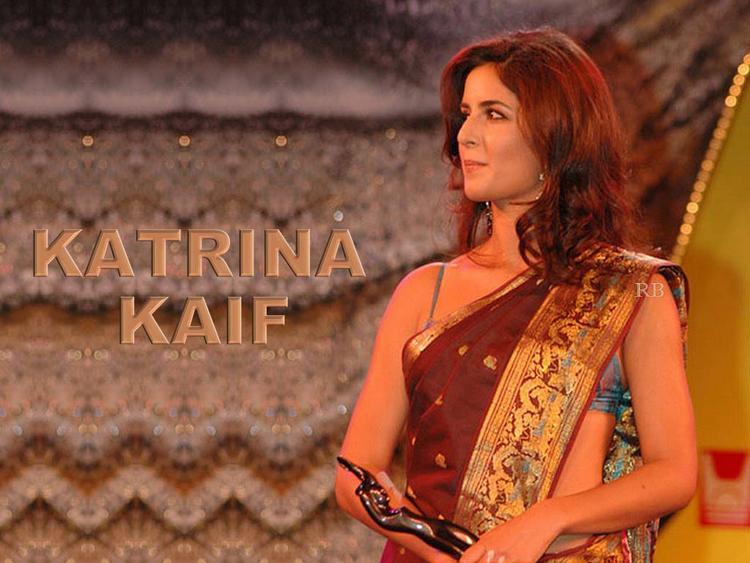 Katrina Kaif Best Wallpaper In Saree