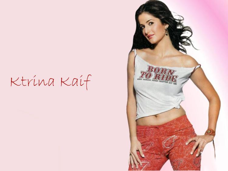 Katrina Kaif Hot Navel Exposing Wallpaper