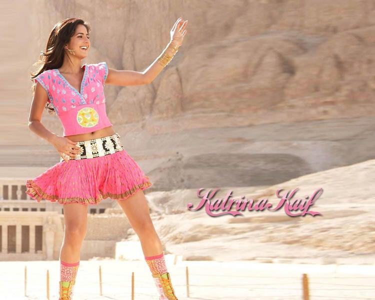 Katrina Kaif In Mini Skirt Cute Sweet Wallpaper