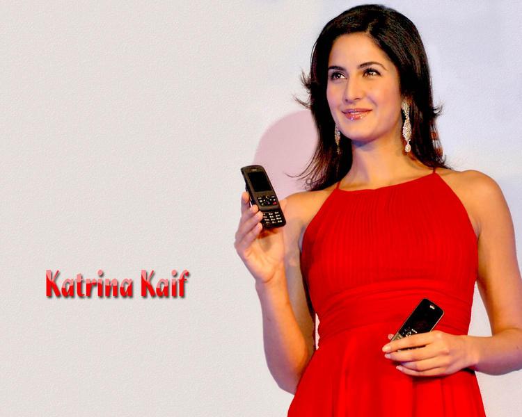 Katrina Kaif Red Dress Sweet Wallpaper