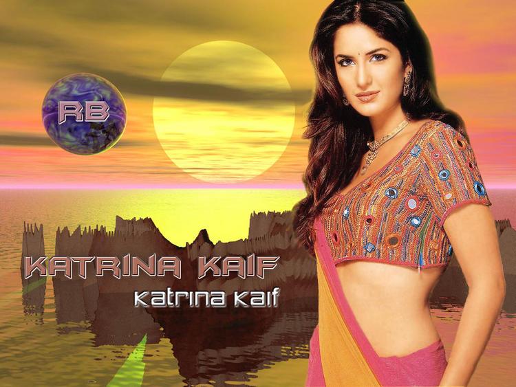 Katrina Kaif Sexy Blouse Exposing Wallpaper