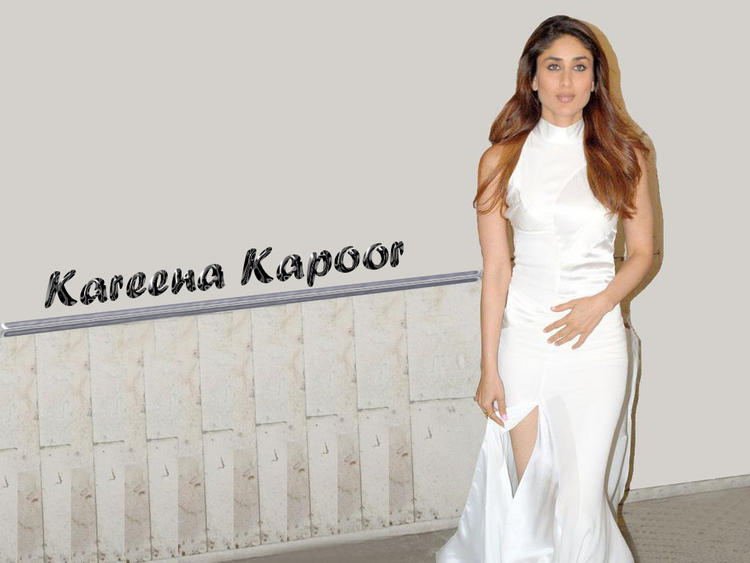 Kareena Kapoor White Dress Sexy Wallpaper
