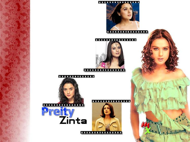 Preity Zinta Curly Hair Cute Hot Wallpaper