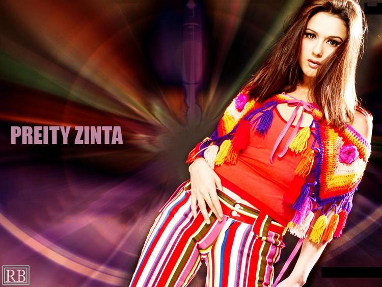 Preity Zinta Dazzling Look Hot Wallpaper