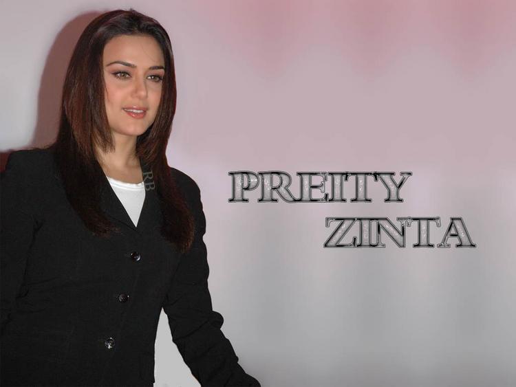 Preity Zinta Glamour Wallpaper With Black Blazer