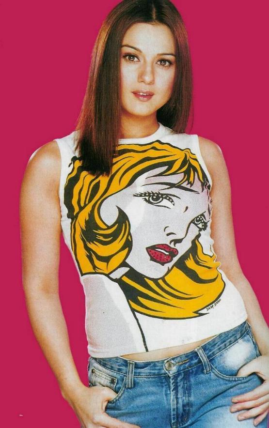 Preity Zinta Innocent Look Wallpaper