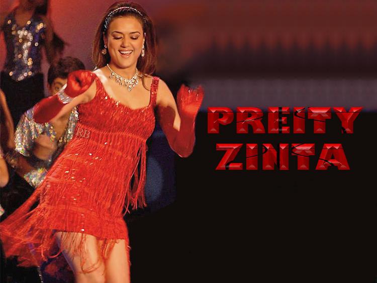 Preity Zinta Sexy Dancing Still Wallpaper