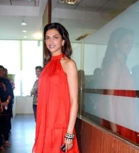 Deepika Padukone Red Dress Beauty Still