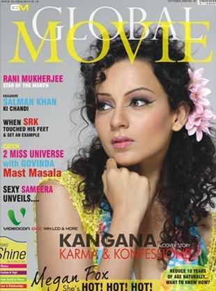 Kangana Ranaut On Global Movie  magazine