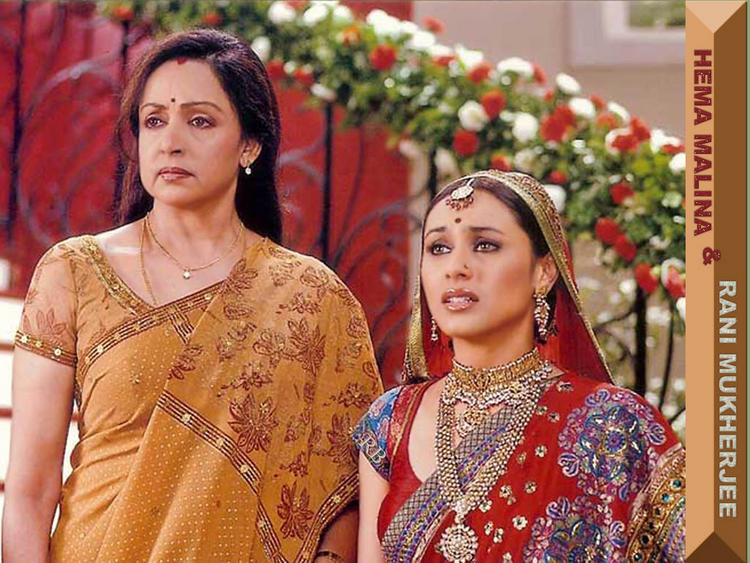 Hema Malini And Rani Mukherjee In Baabul