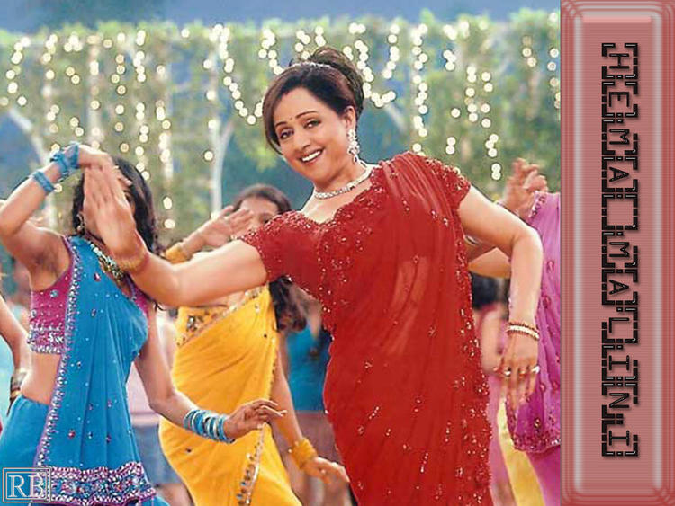 Hema Malini Red Saree In Dancing Pics