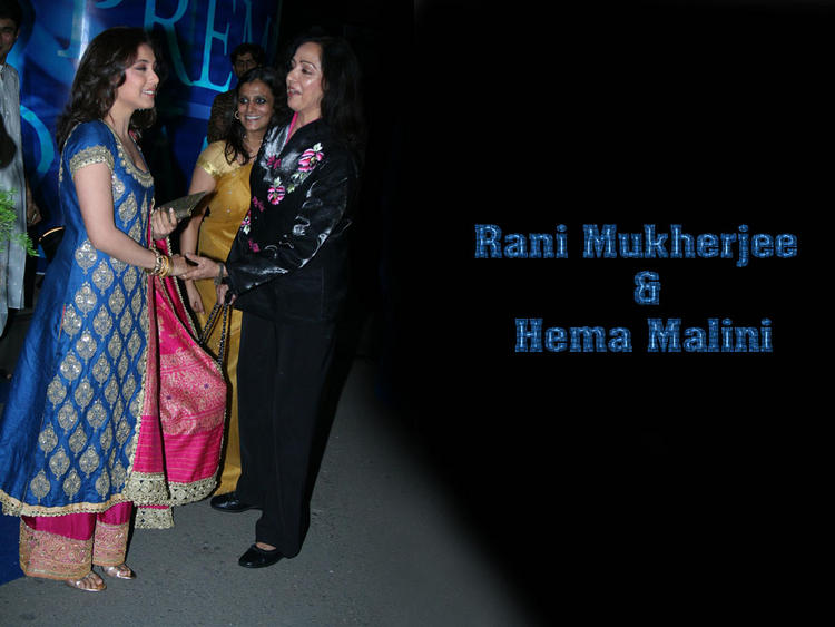 Rani Mukherjee With Hema Malini Photo