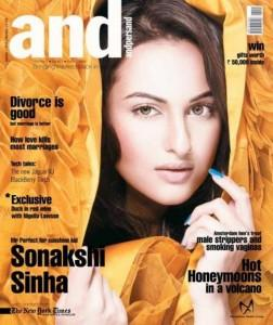 Sonakshi Sinha On the Cover Page Of And Magazine