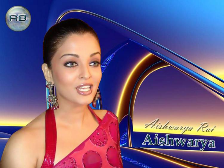 Aishwarya Rai In Magenta Color Saree Wallpaper