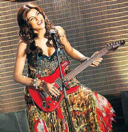 Sushmita Sen Guitar Playing Still