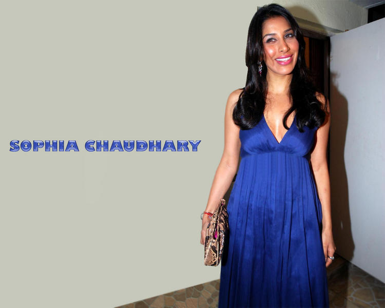 Sophia Chaudhary Blue Dress Hot Wallpaper