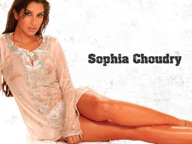 Sophia Chaudhary Milky Legs Show Wallpaper