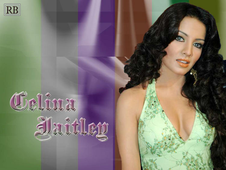 Celina Jaitley Sexy Cleavages Wallpaper