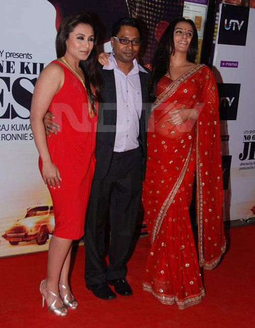 Vidya Balan With Rani and Director On Red Carpet