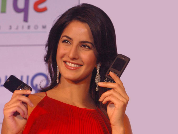 Katrina Kaif Mobile Launch Photo In Red Dress