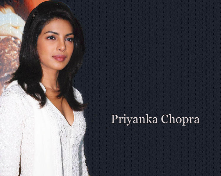 Priyanka Chopra Nice Wallpaper In White Dress