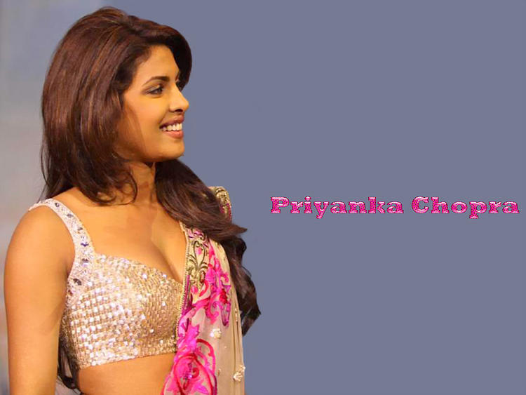 Priyanka Chopra Sexy Blouse Expose Hot Wallpaper