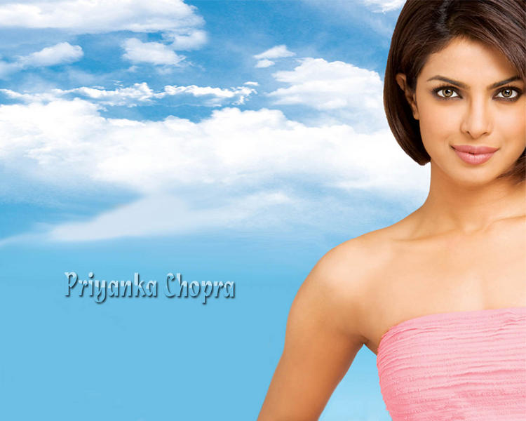 Priyanka Chopra Short Hair Glowing Wallpaper