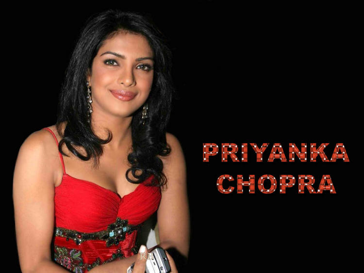 Priyanka Chopra Sweet Wallpaper In Red Dress
